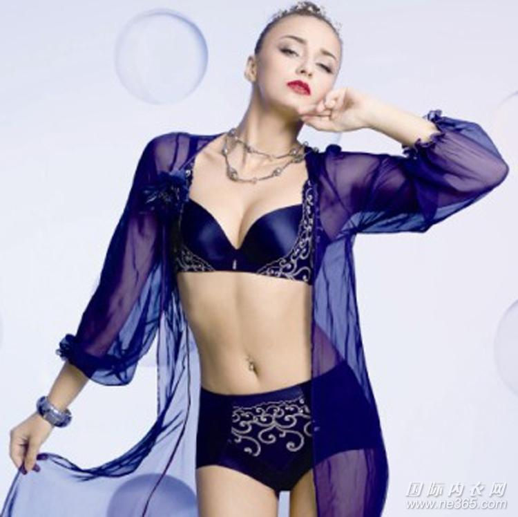 厂家促销刺绣性感聚拢调整型文胸内衣套装