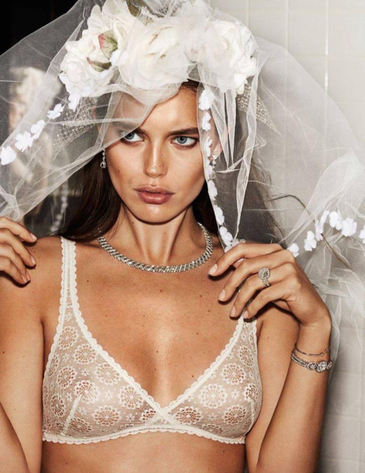 超模Emily DiDonato,新娘大婚之日