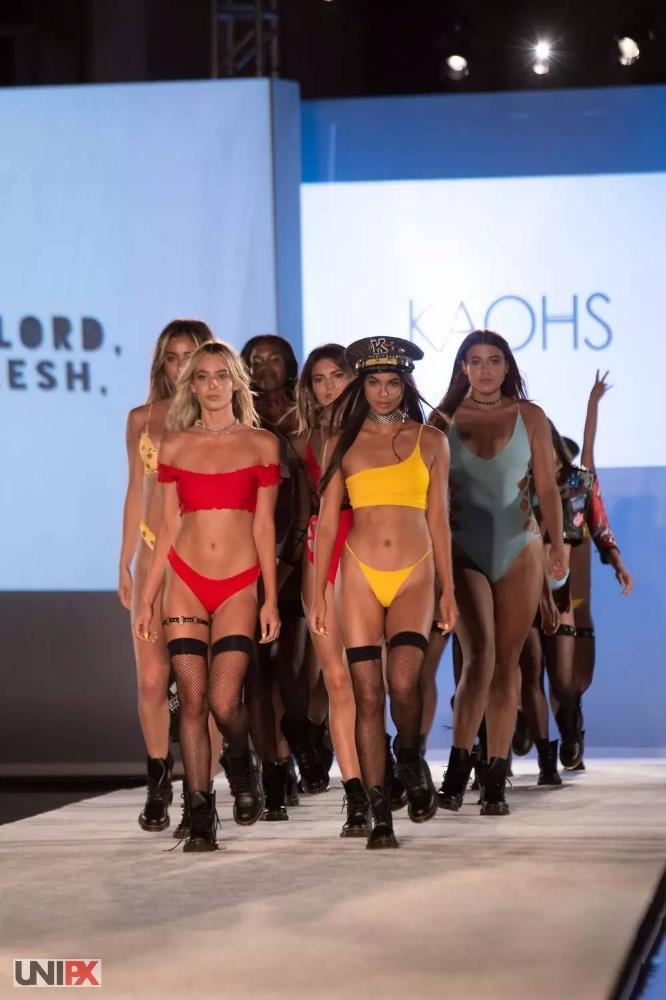 2018迈阿密泳装周 | KAOHS | 黑丝+比基尼=火辣辣的Beach Girl